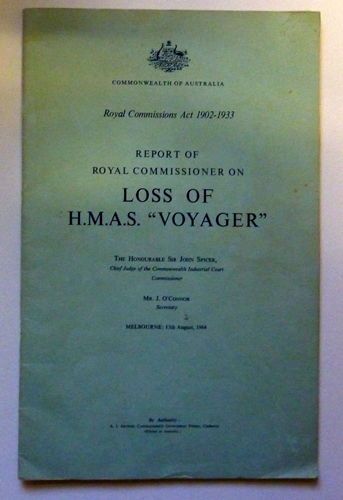 Image for Report of Royal Commissioner on Loss of H.M.A.S. 'Voyager'