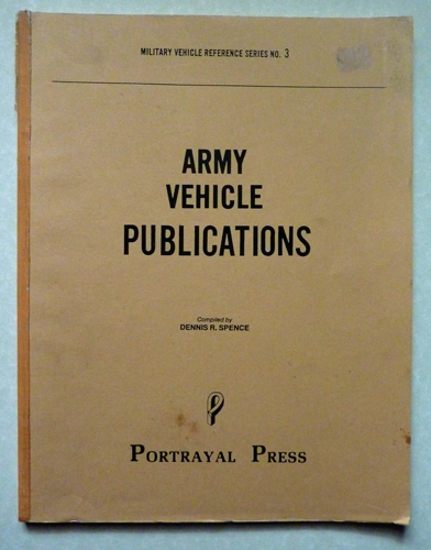 Image for Military Vehicle Reference Series No.3: Army Vehicle Publications