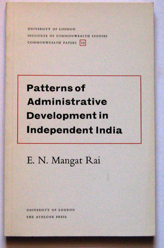 Image for Commonwealth Papers No.19: Patterns of Administrative Development in Independent India