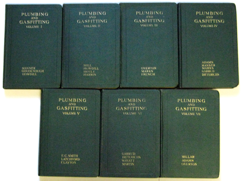 Image for Plumbing and Gasfitting: A Complete Work By Practical Specialists Describing Modern Practice in the Work of the Plumber and Gasfitter. 7 (VII, Seven) Volume Complete Set