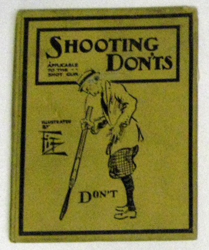 Image for Shooting Don'ts: Applicable to the Shot Gun