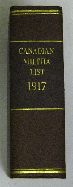 Image for Canadian Militia List, 1917