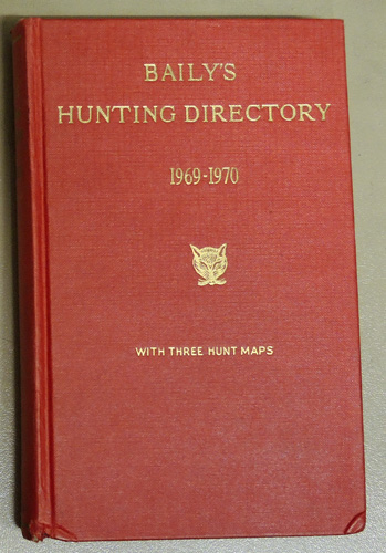 Image for Baily's Hunting Directory 1969-70