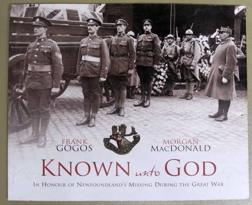 Image for Known Unto God: In Honour of Newfoundland's Missing During the Great War
