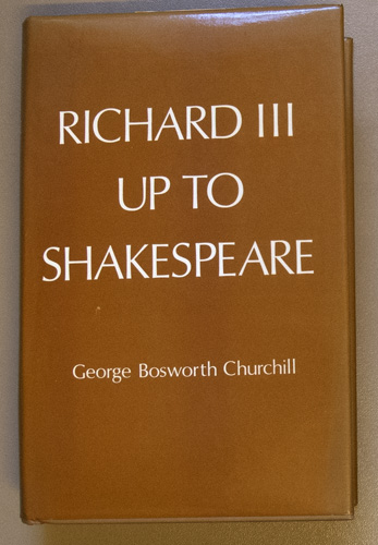Image for Richard III Up to Shakespeare