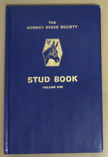 Image for The Donkey Breed Society Stud Book Volume One