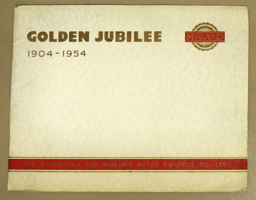Image for Golden Jubilee: The Story of Midland Red 1904 - 1954