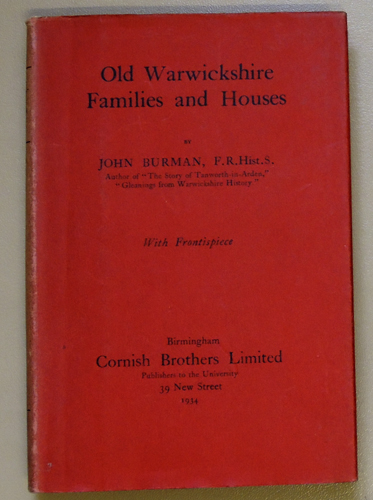Image for Old Warwickshire Families and Houses