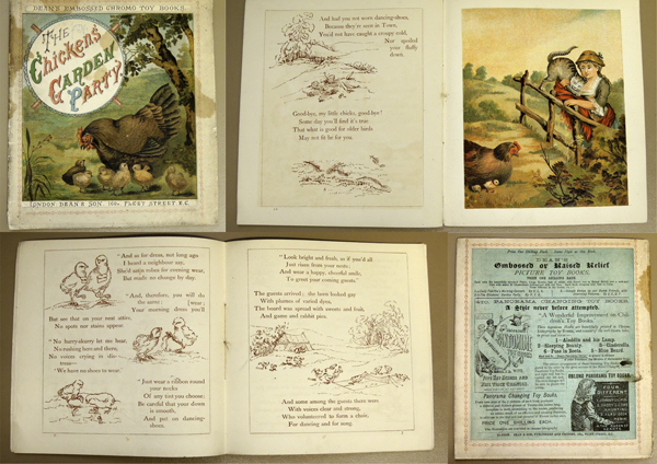 Image for Dean's Embossed or Raised Relief Picture Toy Books No.3 The Chicken's Garden Party