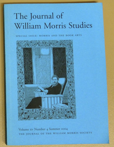 Image for The Journal of the William Morris Society Volume XV Number 4 Summer 2004 Special Issue: Morris and the Book Arts