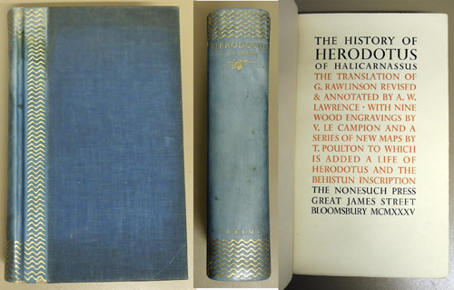 Image for The History of Herodotus of Halicarnassus. With Nine Wood Engravings by V. Le Campion and a Series of New Maps by T. Poulton to Which is Added a Life of Herodotus and the Behistun Inscription