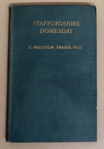 Image for The Staffordshire Domesday with an English Translation