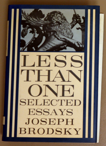 Image for Less Than One: Selected Essays