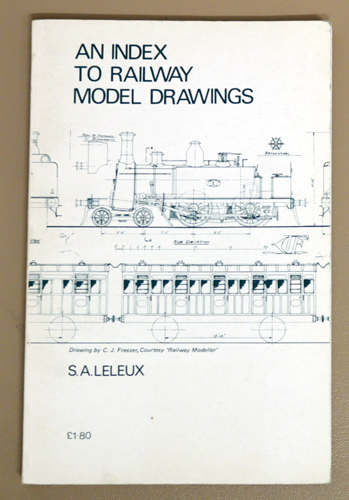 Image for An Index to Model Railway Drawings