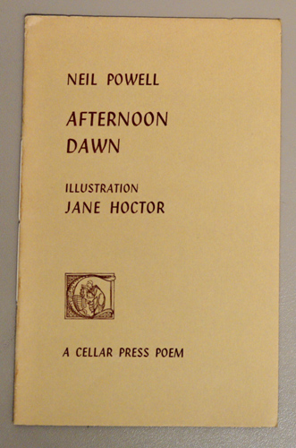 Image for Cellar Press Poem Fifteen: Afternoon Dawn