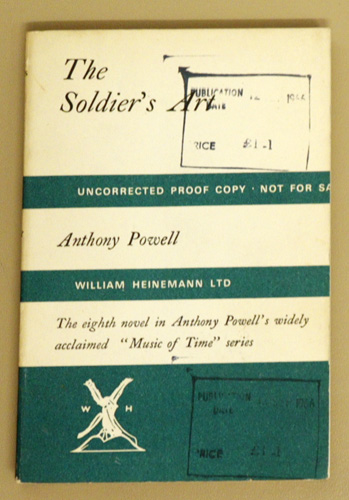 Image for The Soldier's Art: A Novel  (Uncorrected Proof Copy)