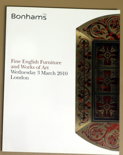 Image for Fine English Furniture and Works of Art. Auction: Wednesday 3 March 2010