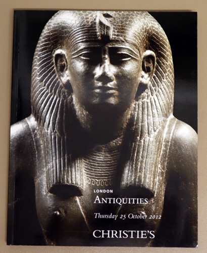 Image for Antiquities. Auction Sale Thursday 25 October 2012