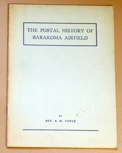 Image for The Postal History of Barakoma Airfield
