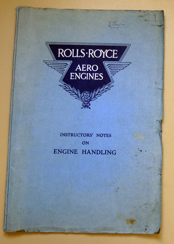 Image for Rolls-Royce Aero Engines: Instructors' Notes on Engine Handling