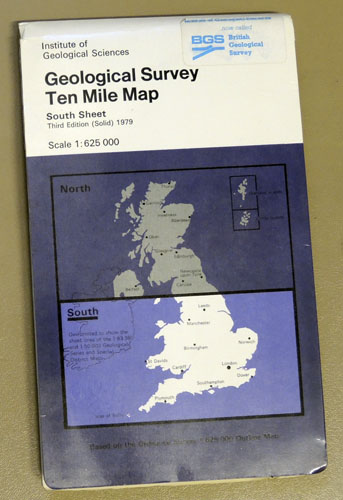 Image for Geological Survey Ten Mile Map. South Sheet  (South of National Grid Line 500KM N)