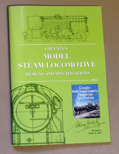Image for Greenly's Model Steam Locomotive Designs and Specifications