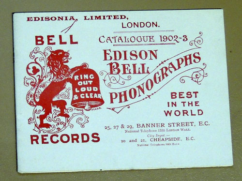 Image for Edison Bell Phonographs Catalogue 1902-3 (facsimile)