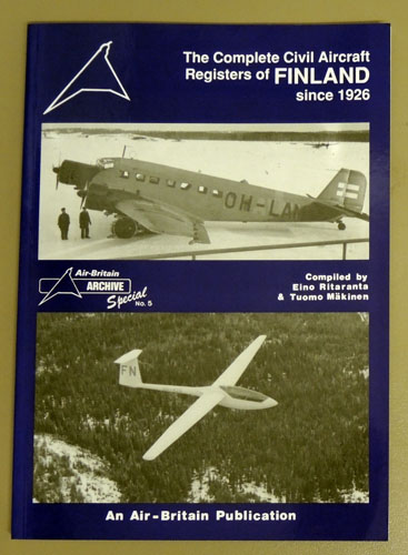 Image for Air-Britain Archive Special No. 5: The Complete Civil Aircraft Registers of Finland Since 1926