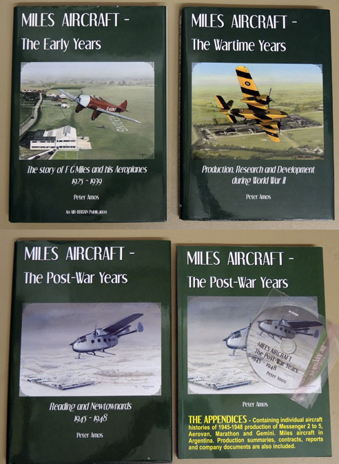 Image for Miles Aircraft - The Early Years: The Story of FG Miles and His Aeroplanes 1925 - 1939;The Wartime Years: Production, Research and Development During WW2; The Post-War Years: Reading and Newtownards 1945-1948; The Appendices (4 Volume Set)