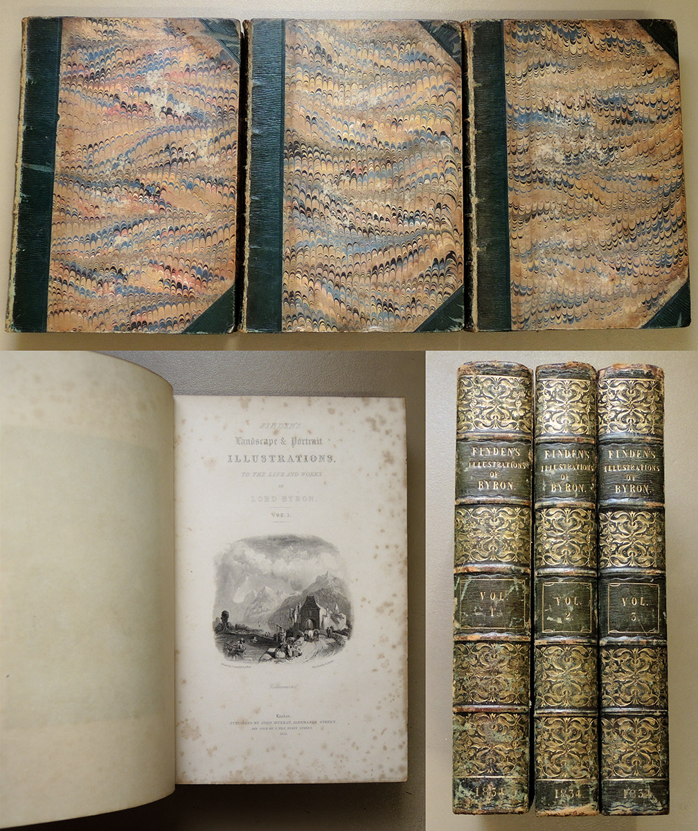 Image for Finden's Illustrations of the Life and Works of Lord Byron: With Original and Selected Information on the Subjects of the Engravings. 3 Volume Set