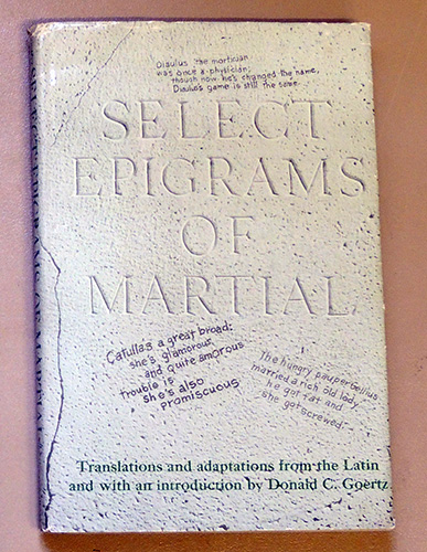 Image for Select Epigrams of Martial
