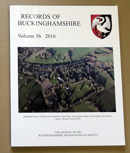 Image for Records of Buckinghamshire: Being the Journal of the Architectural and Archaeological Society for the County of Buckingham. Volume 56: 2016