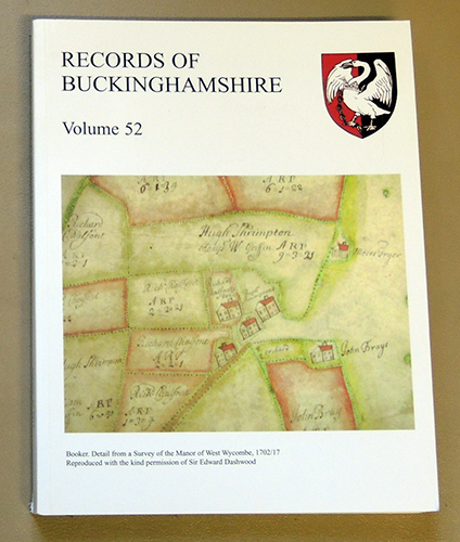 Image for Records of Buckinghamshire: Being the Journal of the Architectural and Archaeological Society for the County of Buckingham. Volume 52: 2012
