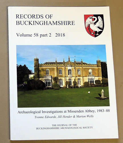 Image for Records of Buckinghamshire: Being the Journal of the Architectural and Archaeological Society for the County of Buckingham. Volume 58 Part 2: 2018. Archaeological Investigations at Missenden Abbey, 1983 -88