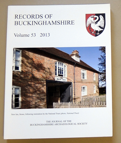 Image for Records of Buckinghamshire: Being the Journal of the Architectural and Archaeological Society for the County of Buckingham. Volume 53: 2013