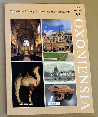 Image for Oxoniensia: A Refereed Journal Dealing with the Archaeology, History and Architecture of Oxford and Oxfordshire, Volume 81, 2016