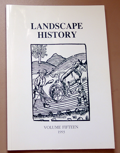 Image for Landscape History: Journal of the Society for Landscape Studies. Volume 15 1993