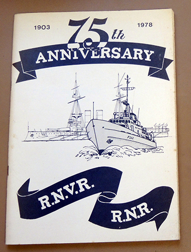 Image for 75th Anniversary R.N.V.R., R.N.R. 1903 - 1978