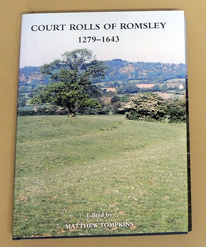 Image for Worcestershire Historical Society New Series Volume 27: Court Rolls of Romsley 1279 - 1643