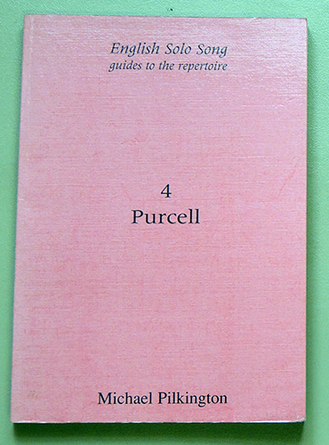 Image for English Solo Song - Guides to the Repertoire 4: Henry Purcell 1659 - 1695