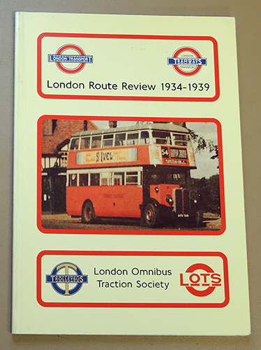 Image for London Route Review 1934 - 1939