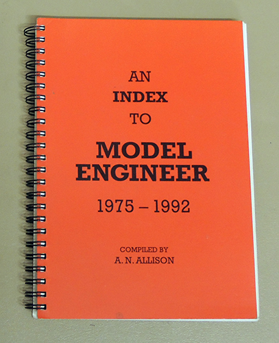Image for An Index to 'Model Engineer' 1975 - 1992