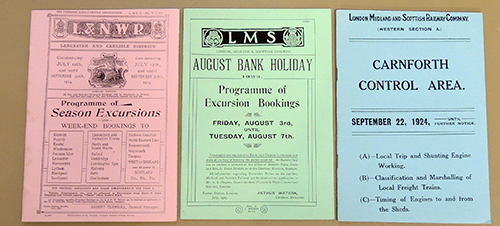 Image for L&NWR Programme of Season Excursions 1914 AND LMS August Bank Holiday Programme of Excursion Bookings 1923 AND LM&SRC Carnforth Control Area September 22, 1924 (Facsimile Booklets)